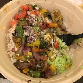 Delicious salad at Rubio's.