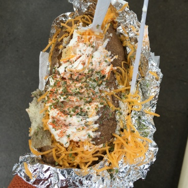 My lunch choice... a baked potato