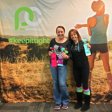 At the ProCompression booth!